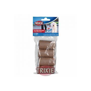 Trixie Hundekotbeutel aus Maisstärke 4 Rollen a 10 Stück, braun