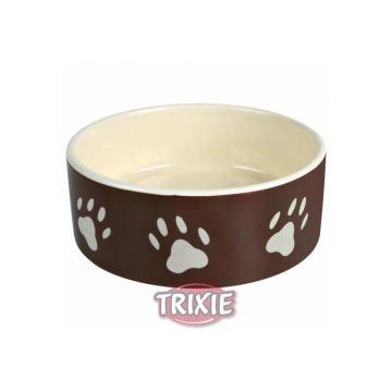 Trixie Napf mit Pfoten, Keramik