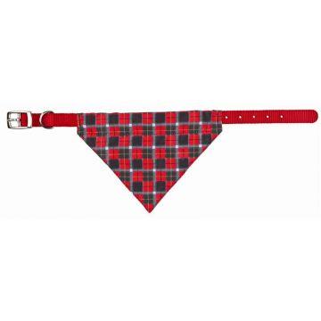 Trixie Nylonhalsband mit Tuch, M: 37-47 cm/20 mm, rot