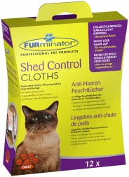 Furminator Anti-Haaren Feuchttücher Katze