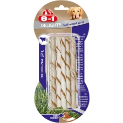 8in1 Delights Beef Twisted Sticks 10 Stück