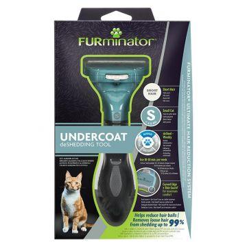 Furminator Katzen-Fellpflegewerkzeug S für die Unterwolle kurzhaariger, kleiner Katzen