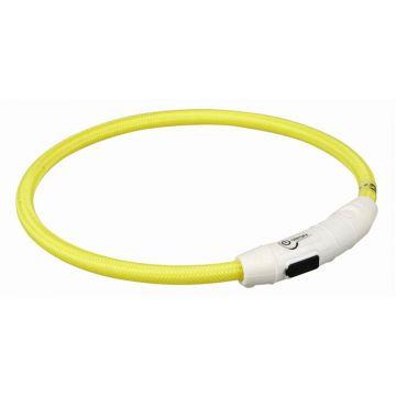 Trixie Flash Leuchtring USB gelb M-L 45 cm/7 mm