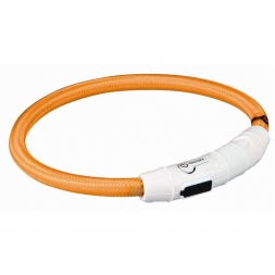 Trixie Flash Leuchtring USB orange XS-S 35 cm/7 mm