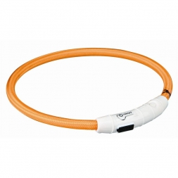 Trixie Flash Leuchtring USB orange  M-L 45 cm/7 mm