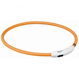 Trixie Flash Leuchtring USB orange L-XL 65 cm/7 mm