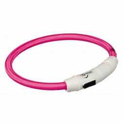 Trixie Flash Leuchtring USB pink XS-S 35 cm/7 mm