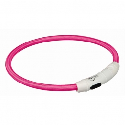 Trixie Flash Leuchtring USB pink M-L 45 cm/7 mm