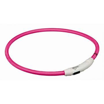 Trixie Flash Leuchtring USB pink L-XL 65 cm/7 mm