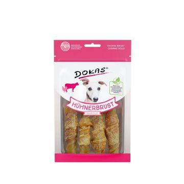 Dokas Hunde Snack Hühnerbrust Kaurolle 90 g (Menge: 10 je Bestelleinheit)