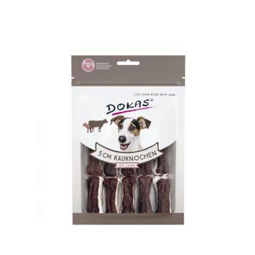 Dokas Hundesnack 5 cm Kauknochen mit Lamm 12 Stück (10x) (Menge: 10 je Bestelleinheit)