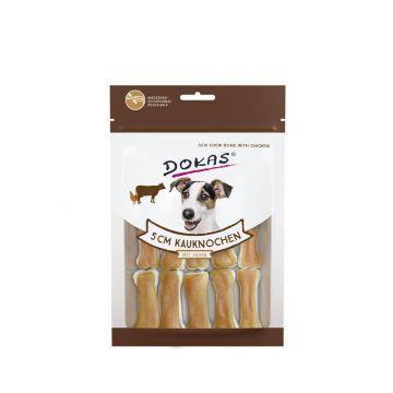 Dokas Hundesnack 5 cm Kauknochen mit Huhn 12 Stück (10x) (Menge: 10 je Bestelleinheit)