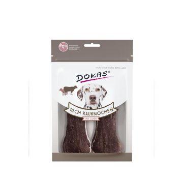 Dokas Hundesnack 10 cm Kauknochen mit Lamm 2 Stück (10x) (Menge: 10 je Bestelleinheit)
