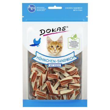 Dokas Cat Hühnchen Sandwich mit Fisch 70 g (Menge: 10 je Bestelleinheit)