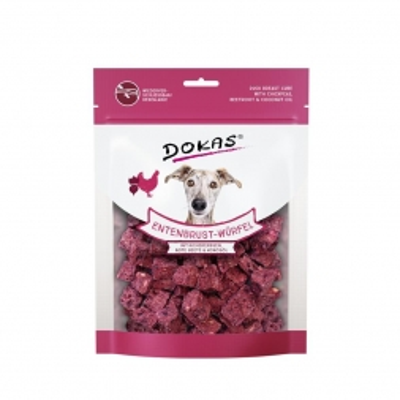 Dokas Dog Entenbrust Würfel, Kichererbsen, Rote Beete 150 g (Menge: 8 je Bestelleinheit)