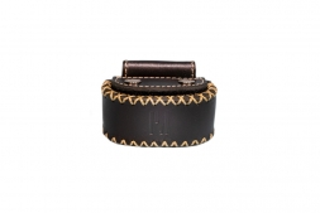 privédeur GRETA Trackertasche Premium, schwarz für Halsband 30-35 cm x 1,9 mm