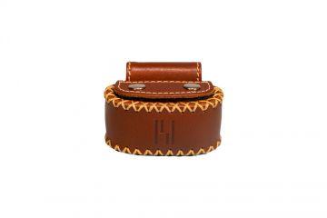 privédeur GRETA Trackertasche Premium, braun für Halsband 30-35 cm x 1,9 mm