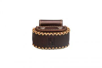 privédeur GRETA Trackertasche Premium, braun geölt für Halsband 43-50 cm x 34 mm