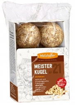 Welzhofer Bird Meisterkugeln No. 21 mit Nüssen  (Menge: 12 je Bestelleinheit)