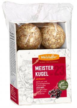 Welzhofer Bird Meisterkugeln No. 23 mit Beeren  (Menge: 12 je Bestelleinheit)