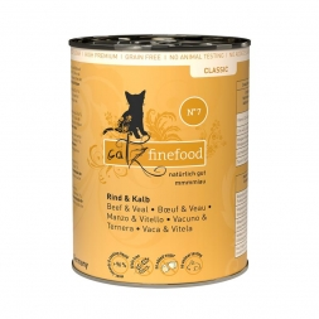 Catz finefood No.  7 Kalb 400g (Menge: 6 je Bestelleinheit)
