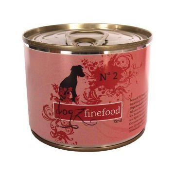 Dogz finefood Dose No.  2 Rind 200g (Menge: 6 je Bestelleinheit)