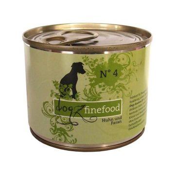 Dogz finefood Dose No.  4 Huhn & Fasan 200g (Menge: 6 je Bestelleinheit)