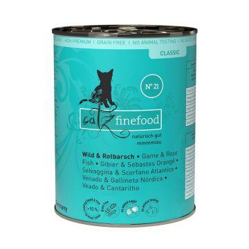 Catz finefood No. 21 Wild und Rotbarsch 400g (Menge: 6 je Bestelleinheit)