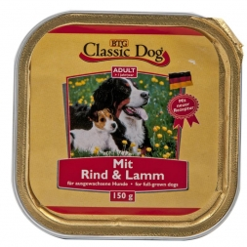 Classic Dog Schale Rind & Lamm 150g (Menge: 20 je Bestelleinheit)