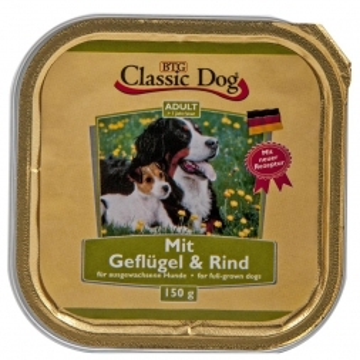 Classic Dog Schale Geflügel & Rind 150g (Menge: 20 je Bestelleinheit)