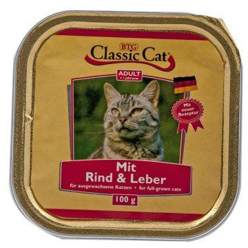 Classic Cat Schale Rind & Leber 100g (Menge: 30 je Bestelleinheit)
