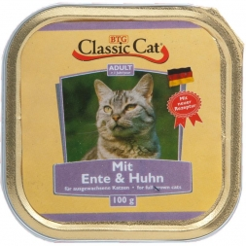 Classic Cat Schale Ente & Huhn 100g (Menge: 30 je Bestelleinheit)