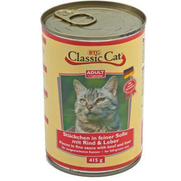 Classic Cat Dose Soße mit Rind & Leber 415g (Menge: 12 je Bestelleinheit)