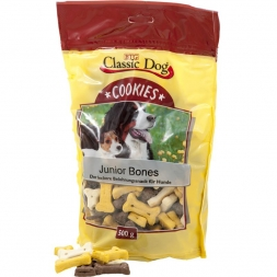 Classic Dog Snack Cookies Junior Bones 500g