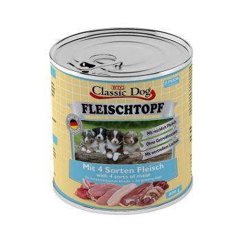 Classic Dog Dose Fleischtopf Junior Mit 4 Sorten Fleisch 800g (Menge: 6 je Bestelleinheit)