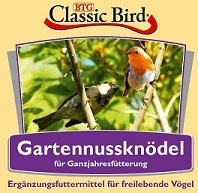 Classic Bird Garten Nussknödel 6 Stück auf Tablett (Menge: 16 je Bestelleinheit)