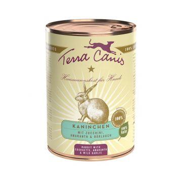 Terra Canis Classic Kaninchen mit Zucchini, Amaranth und Bärlauch 400g (Menge: 12 je Bestelleinheit)