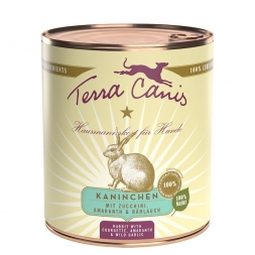 Terra Canis Classic Kaninchen mit Zucchini, Amaranth und Bärlauch 800g (Menge: 6 je Bestelleinheit)