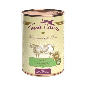 Terra Canis Classic Rind mit Karotte, Apfel und Naturreis 400g (Menge: 12 je Bestelleinheit)