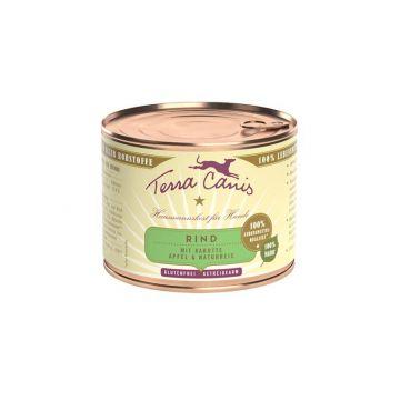 Terra Canis classic Rind mit Karotte, Apfel und Naturreis 200g (Menge: 12 je Bestelleinheit)