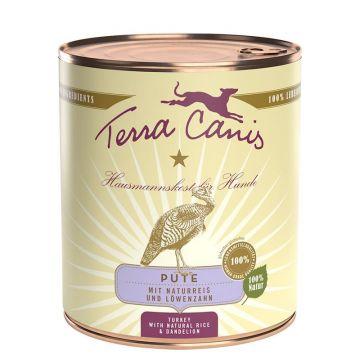 Terra Canis Classic Pute mit Naturreis & frischem Löwenzahn 800g (Menge: 6 je Bestelleinheit)