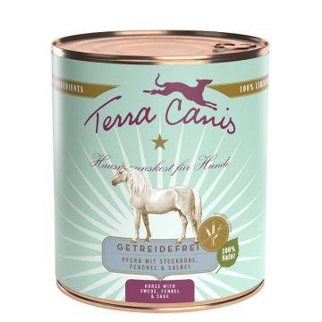 Terra Canis Hunde Nassfutter Dose getreidefrei Pferd 6 x 800 g (Menge: 6 je Bestelleinheit)
