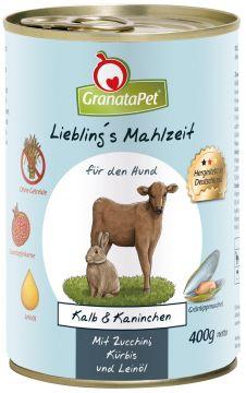 GranataPet Lieblings Mahlzeit Kalb & Wildkaninchen 400g (Menge: 6 je Bestelleinheit)