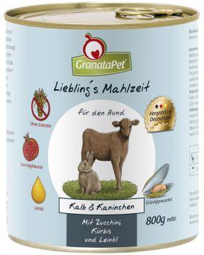 GranataPet Lieblings Mahlzeit Kalb & Wildkaninchen 800g (Menge: 6 je Bestelleinheit)