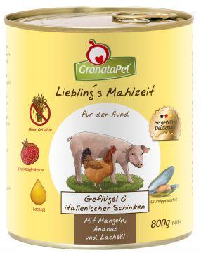 GranataPet Lieblings Mahlzeit Geflügel & italienischer Schinken 800g (Menge: 6 je Bestelleinheit)