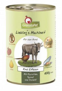 GranataPet Lieblings Mahlzeit Rind & Fasan 400g (Menge: 6 je Bestelleinheit)