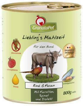 GranataPet Lieblings Mahlzeit Rind & Fasan 800g (Menge: 6 je Bestelleinheit)