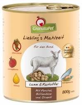 GranataPet Lieblings Mahlzeit Lamm & Kartoffel 800g (Menge: 6 je Bestelleinheit)