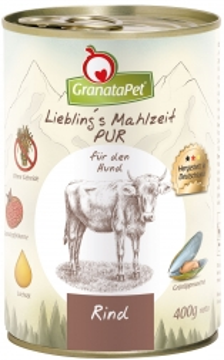 GranataPet Lieblings Mahlzeit Rind PUR 400g (Menge: 6 je Bestelleinheit)