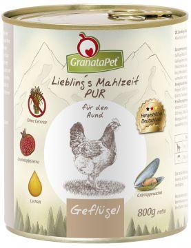GranataPet Lieblings Mahlzeit Geflügel PUR 800g (Menge: 6 je Bestelleinheit)